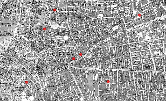 Whitechapel Map from Ordnance Survey Map 1894; modified 2008