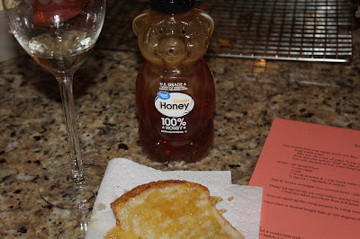Honey with warm bread