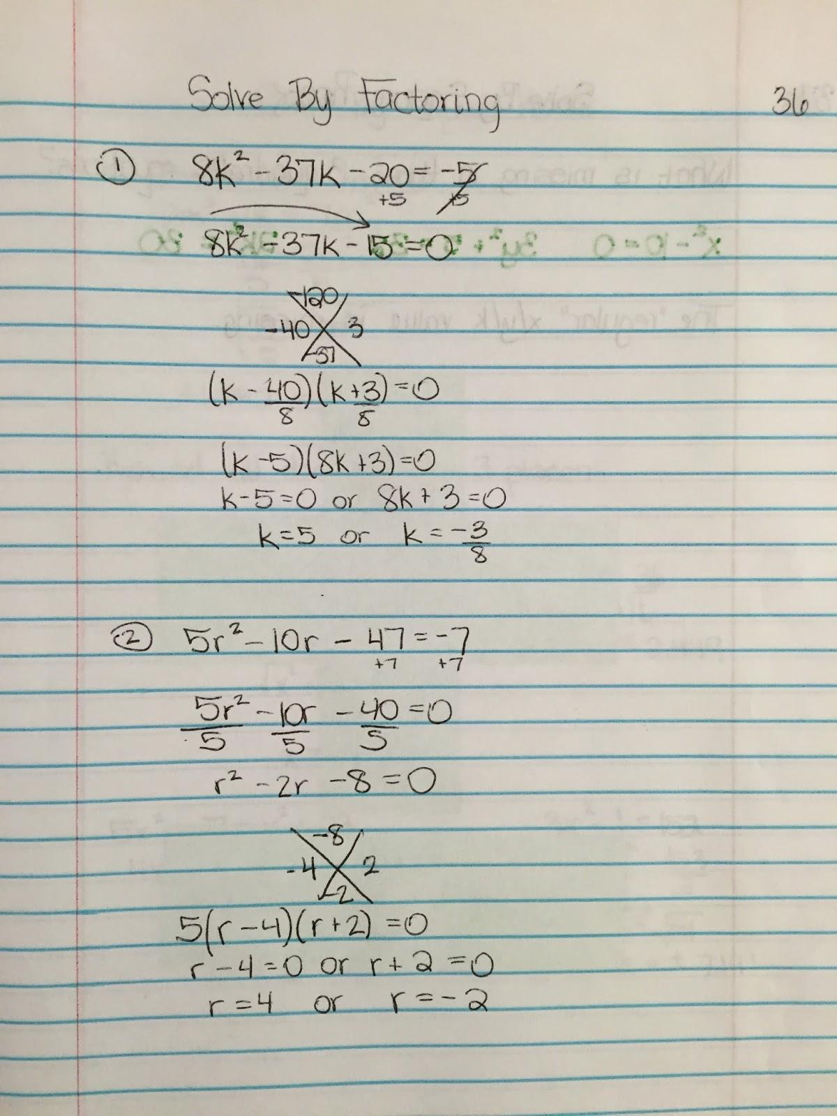 Misscalcul8 Algebra Ii Unit 4 Quadratics Interactive