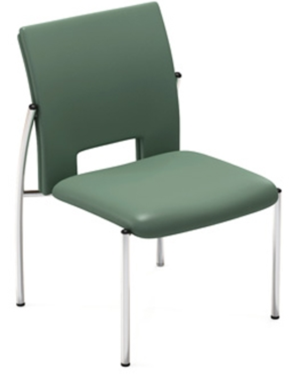 Vista Contemporary Leather Stacking Guest Chair by Via Seating
