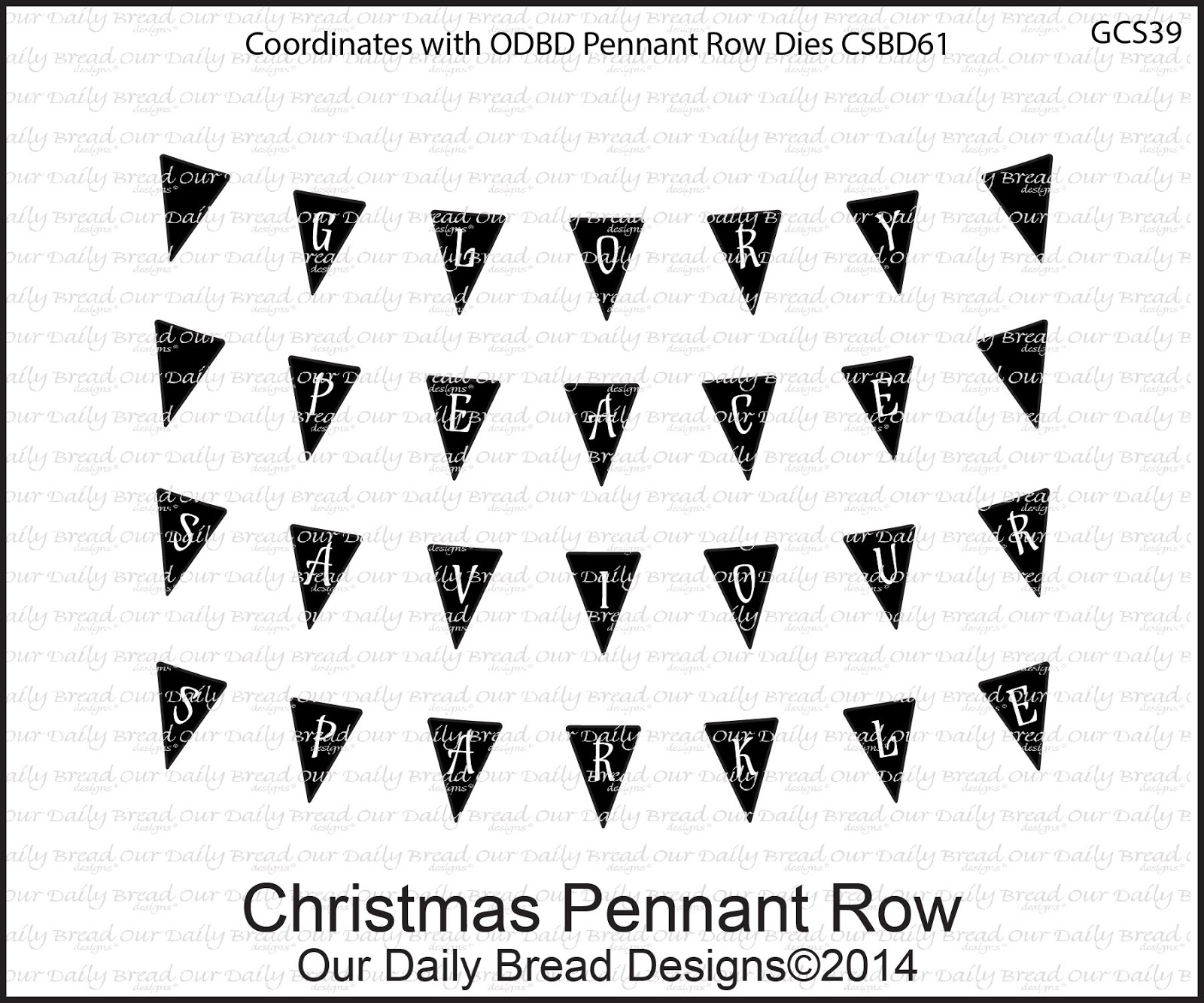 Stamps - Our Daily Bread Designs Christmas Pennant Row