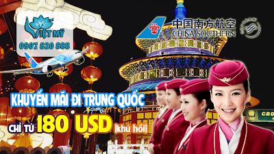 Đi Trung Quốc giá rẻ với khuyến mãi lớn của China Southern Airlines