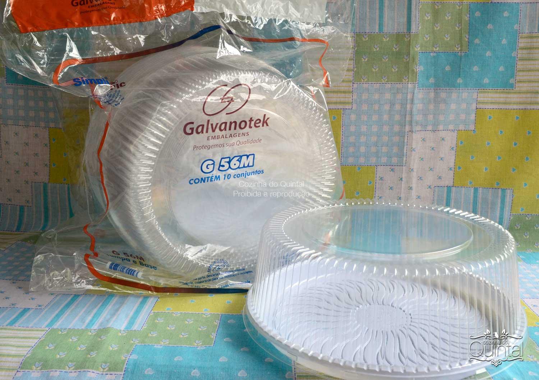 Embalagens para bolos e tortas G 56M e G 32M Galvanotek com 10 unidades na sacolinha!