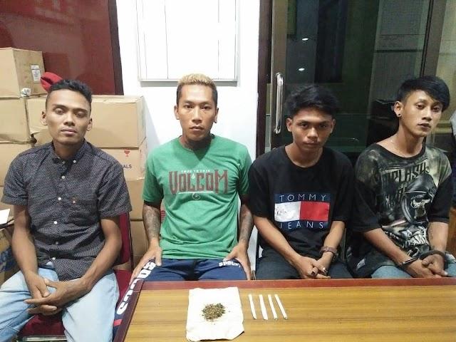 Polisi Amankan 4 Pemuda Kedapatan Bawa Ganja Seberat 4.72 Gram