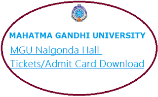 MG University Nalgonda Hall Tickets 2021