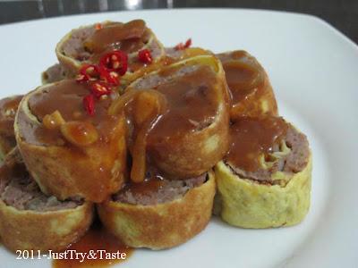 Resep Rolade Daging Sapi dengan Saus Coklat JTT