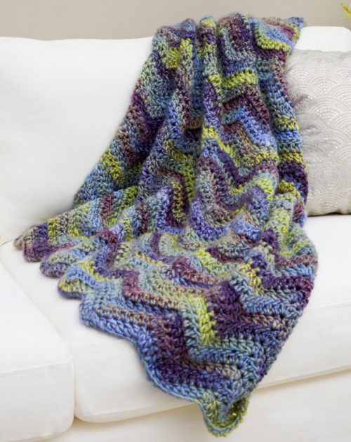 Make Waves Throw - Free Pattern