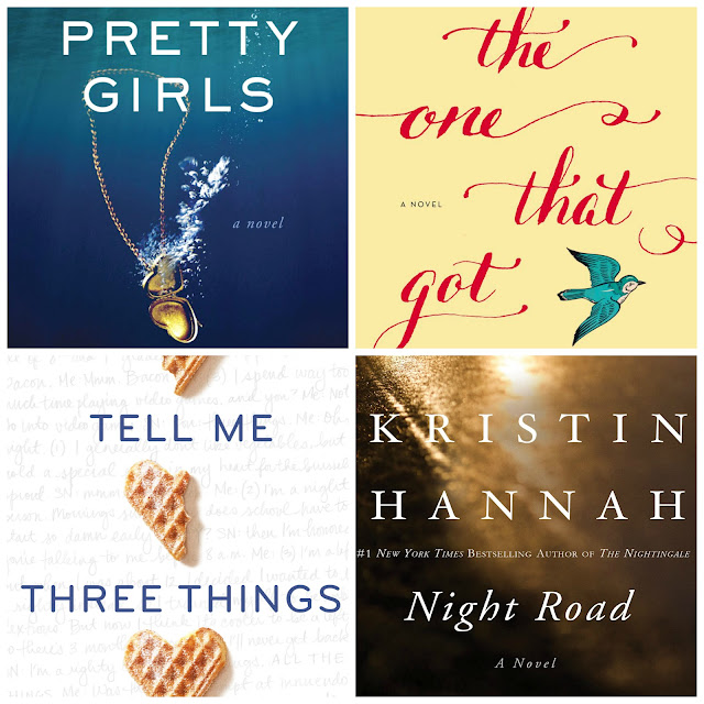 Book reviews of: Pretty girls, The one that got away, Tell me three things and Night road.