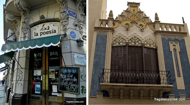 Café histórico La Poesia e o Centro Cultural Casal de Catalunya, em San Telmo, Buenos Aires