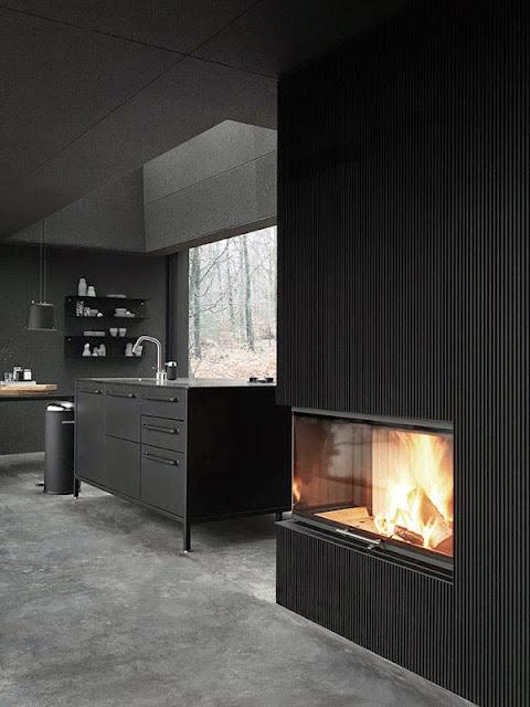 Diseño y decoración innovadora de espacios de color negro