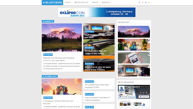 Blue Tema Blogger Template
