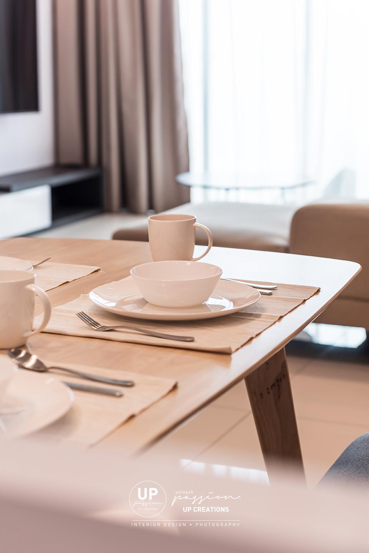 trinity aquata condo wood dining table