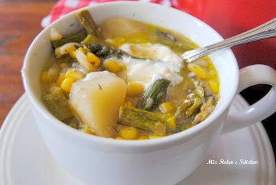 Roasted Asparagus Chowder at Miz Helen's Country Cottage