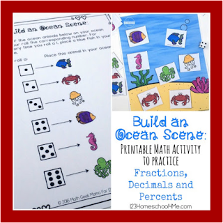 build an ocean math game - decimal, fraction, percent
