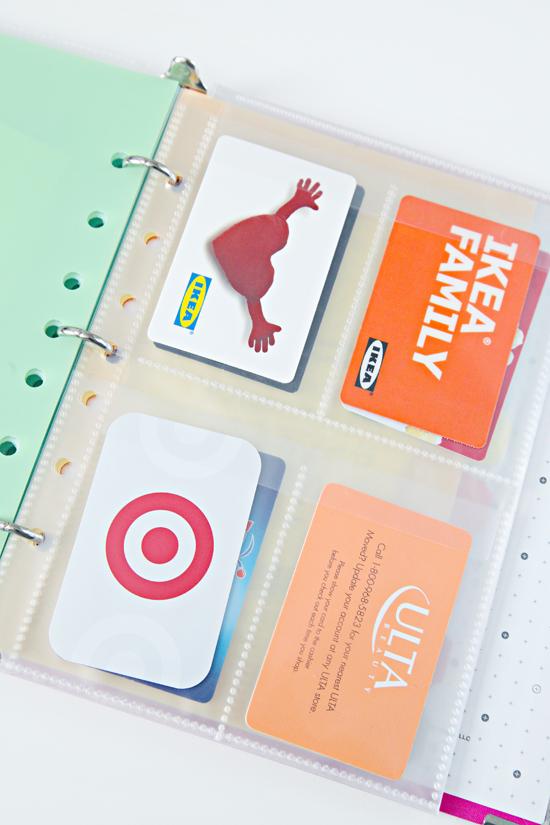 Small coupon organizer binder