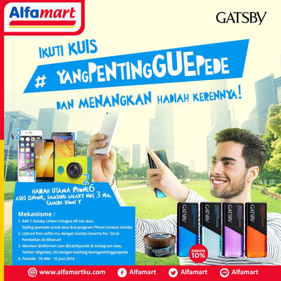 Photo Contest Gatsby Yang Penting Gue Pede – Alfamart