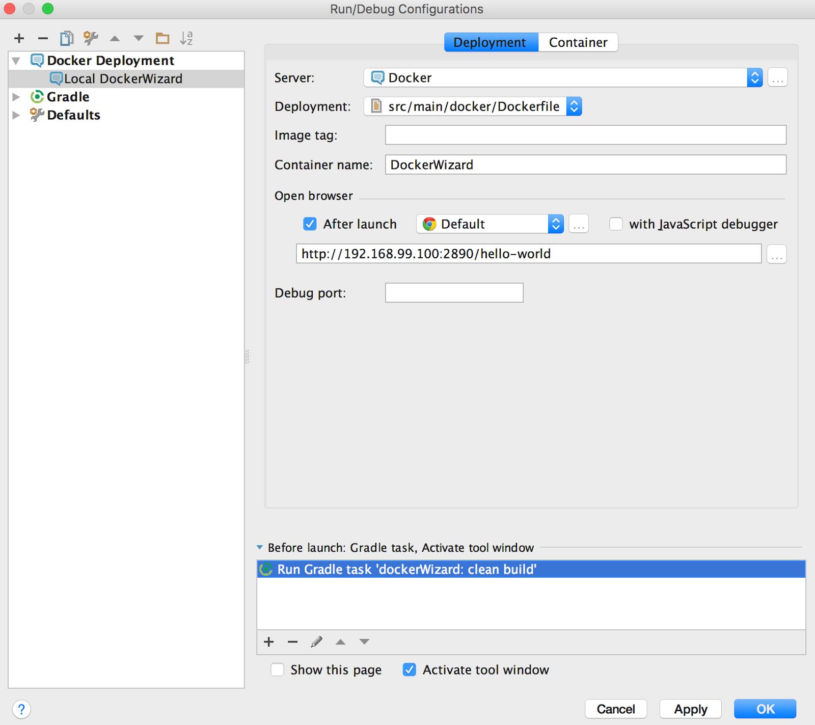 QAware | Blog: How to use Docker within intelliJ