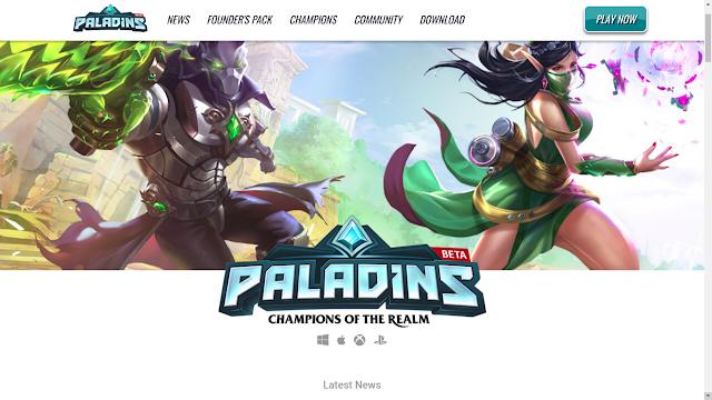 Paladins game fps