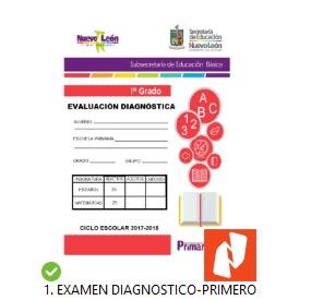 1er grado primaria Examen de Diagnostico