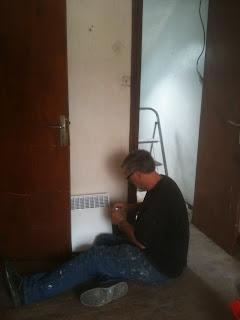 Renovation project installing central heating