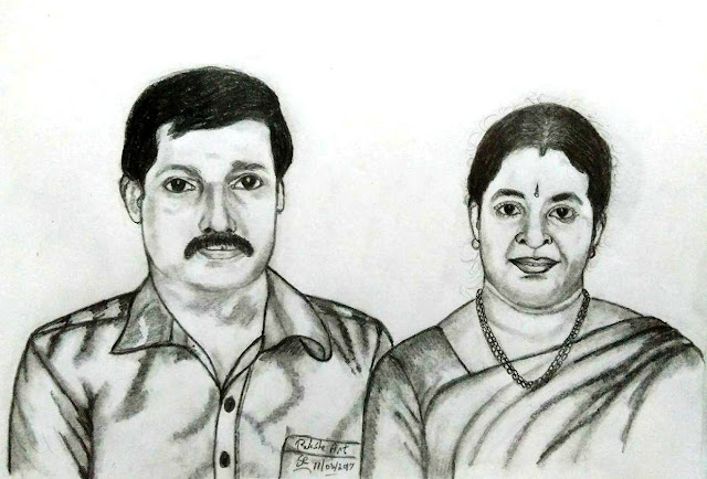 PENCIL DRAWING - Hema Sathyan - Gunasheela