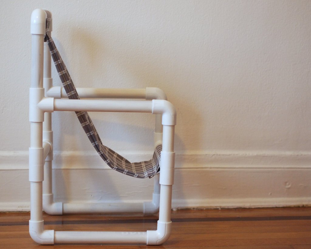 Make a toddler chair out of pvc pipe | Pink Stripey Socks