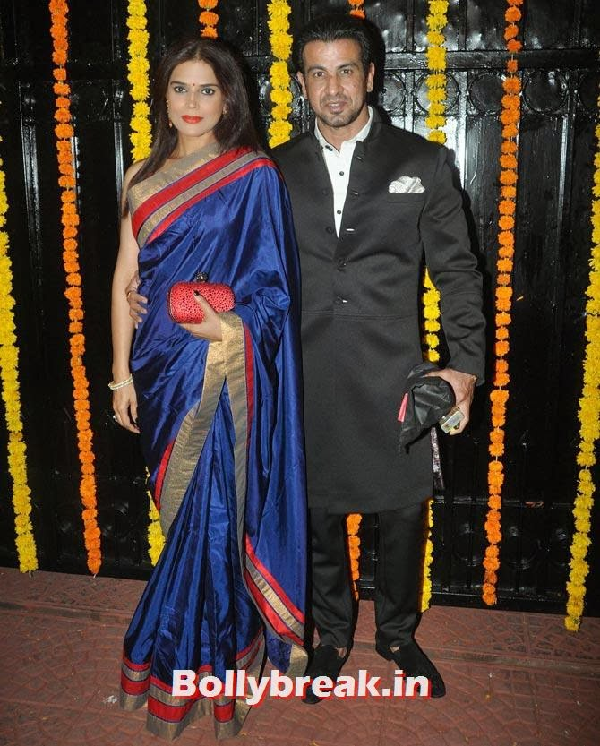 Neelam and Ronit Roy, Ekta Kapoor's Diwali bash 2013