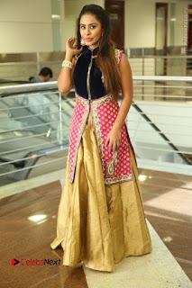 Telugu Actress Sri Reddy Mallidi Stills in White Beautiful Dress at Marriage Needs Bridal Fashion Week 2017 Logo Launch  0176.JPG