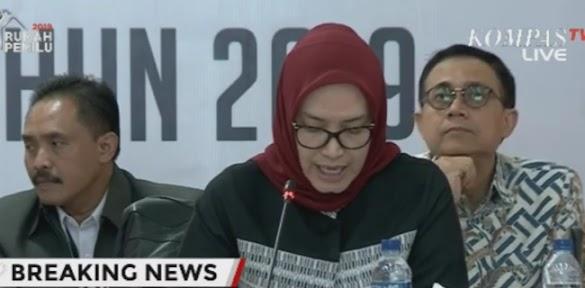 Penetapan KPU: Jokowi-Maruf 55.50%, Prabowo-Sandi 44.50%