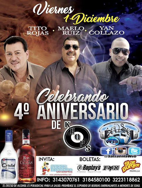 ► Tito Rojas, Maelo Ruiz y Yan Collazo en Concierto
