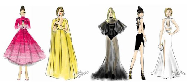 American Music Awards Fashion Sketches