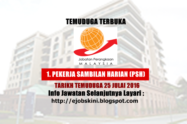 Temuduga Terbuka Jabatan Perangkaan Malaysia