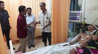 Walikota Bima Besuk Amar, Pemuda Tertancap Panah di Bagian Leher