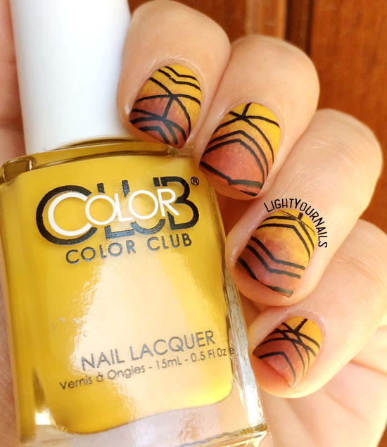 Tribal nail art stamping with Color Club and Nicole Diary