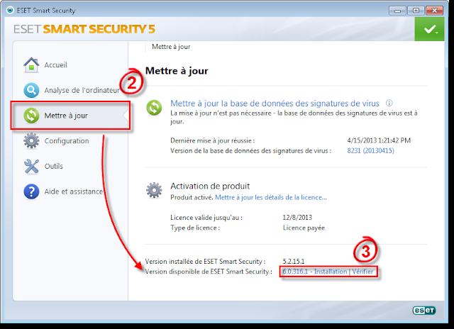 eset mise à jour manuelle, mise a jour nod32 manuel, mise a jour eset smart security 10