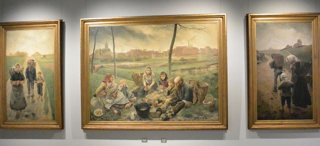 Musée Fin du siècle Bruxelles Triptyque des marchands de craie de Léon Frédéric