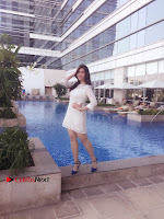 Actress Mannara Chopra Latest Poshoot Gallery in White Short Dress  0002.jpg