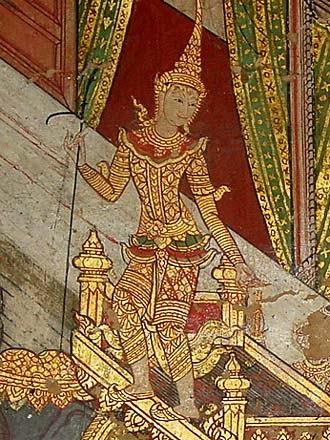 Desconocido - Royalty, Mural Painting, Wat Suwannaram, Bangkok
