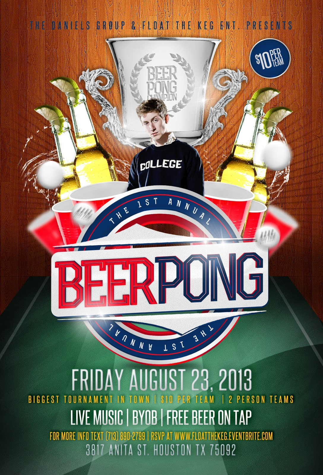 1st Annual Beer Pong Tournament Keg Party