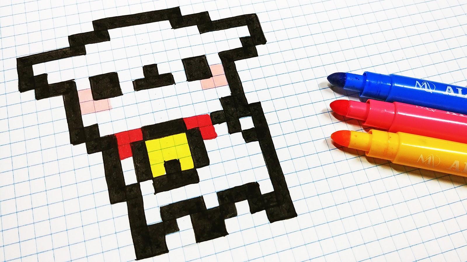 Pixel Art Renard Kawaii