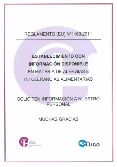 Cartel alérgenos, información alérgenos, cartel informativo alérgenos