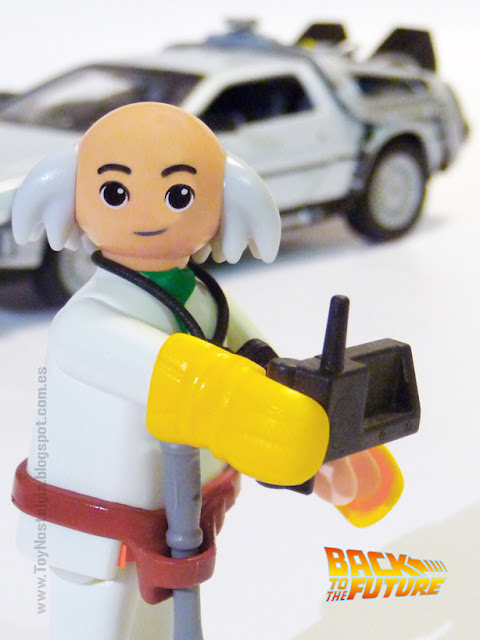 Playmobil Regreso al Futuro Doctor Brown y el DeLorean Time machine