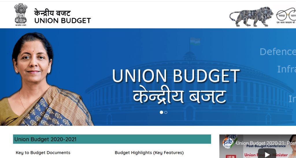 Union Budget 2020 21 Hindi English pdf