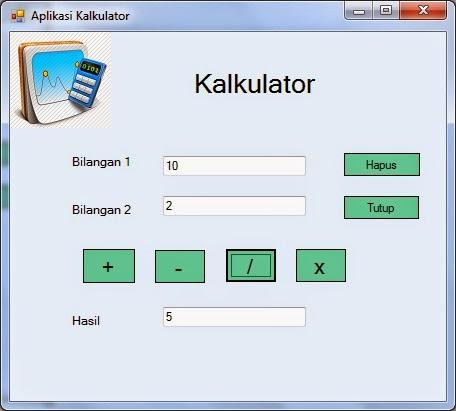 bagi - Tutorial membuat Kalkulator Dengan Visual Studio 2012