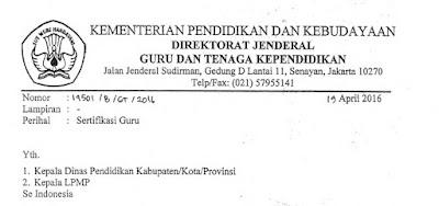 Verval Calon Peserta Sergur Sampai Dengan 15 Mei 2016, Biaya SG-PPG Ditiadakan