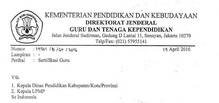 Verval Calon Peserta Sergur Sampai Dengan 15 Mei 2016, SG-PPG Ditiadakan