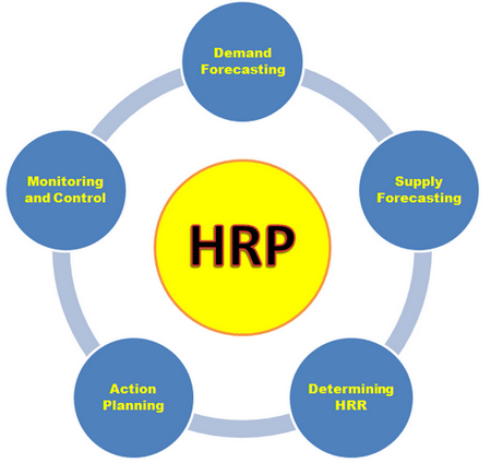 Five steps in human resource planning