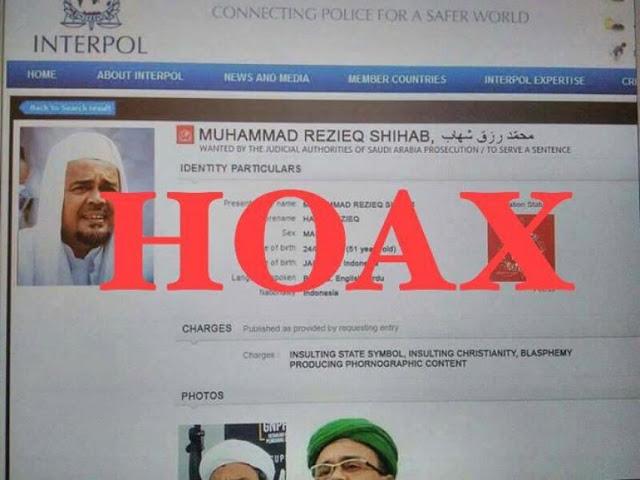 Kuasa Hukum Habib Rizieq: Pembuat Red Notice Palsu Dapat Dipidana