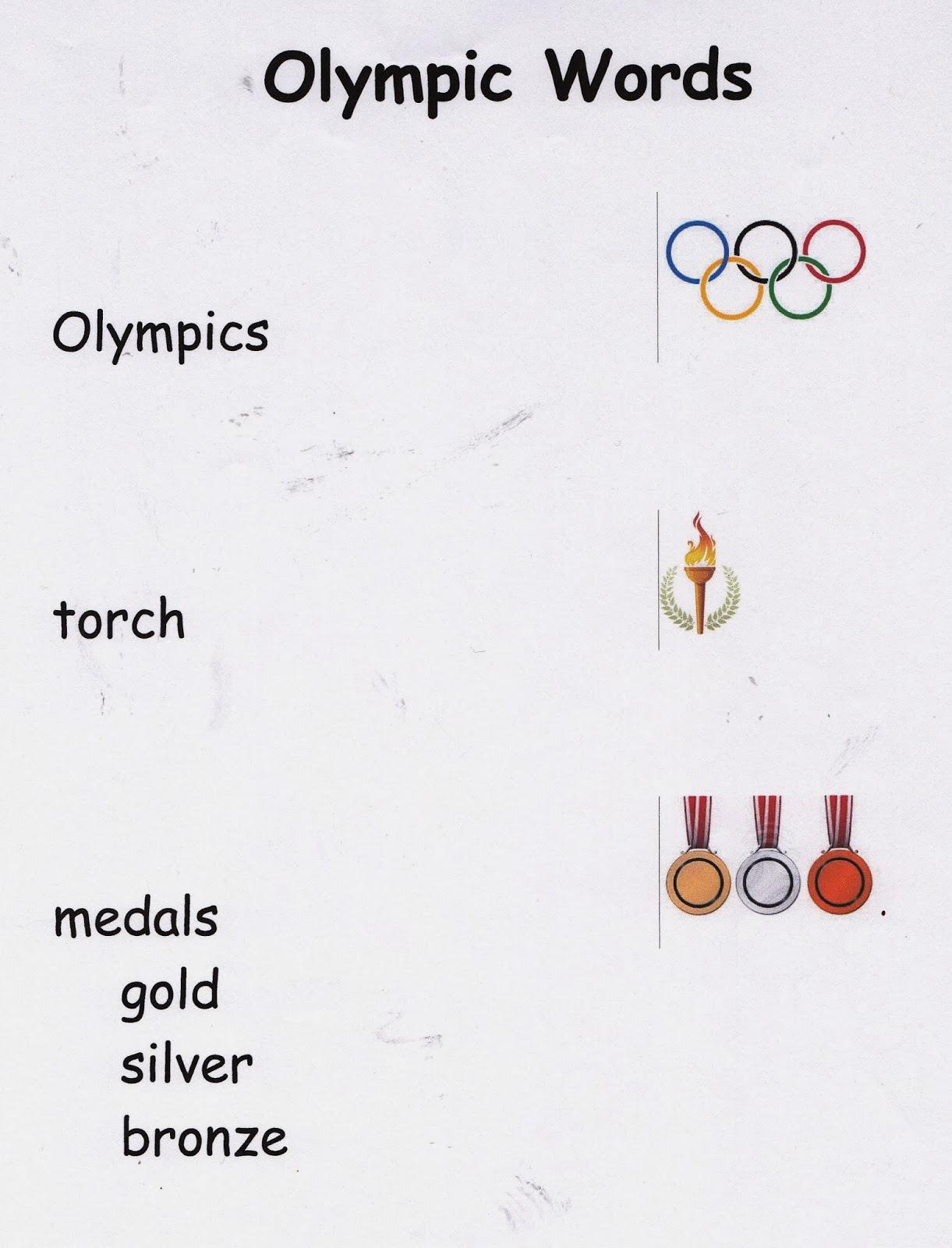 Metamora Community Preschool: Winter Olympics---words and