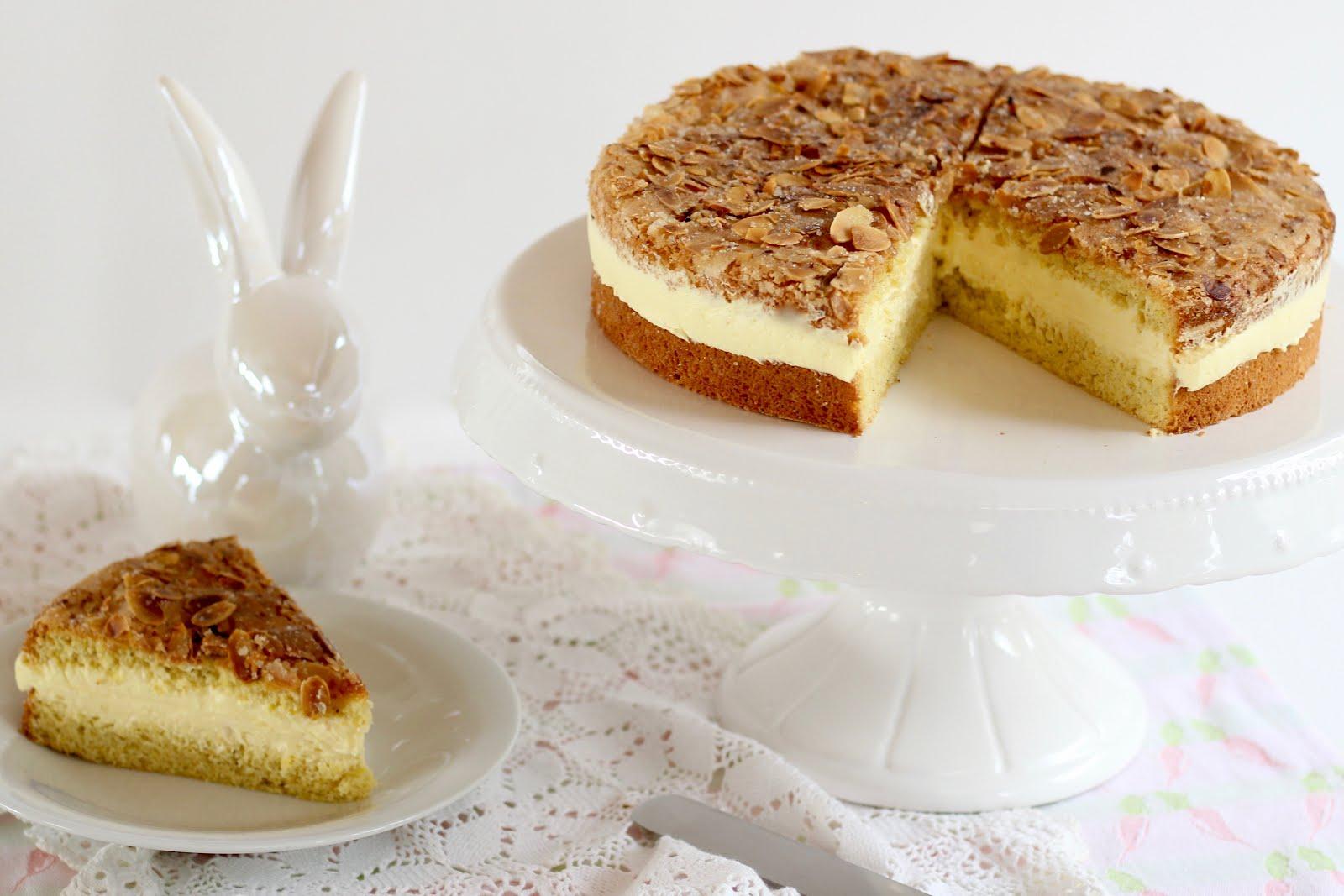 Super Schneller Bienenstich Mit Vanillecreme Und Biskuit Rezept